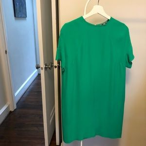COS drop shoulder green shift dress size 4